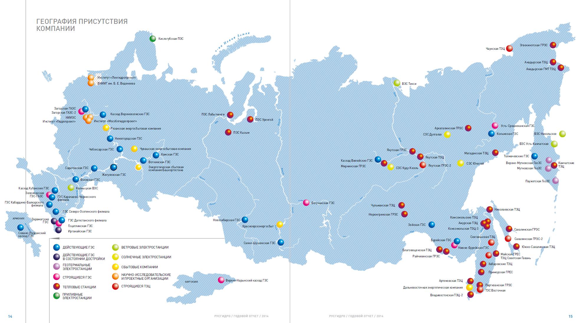 Русгидро карта 2015