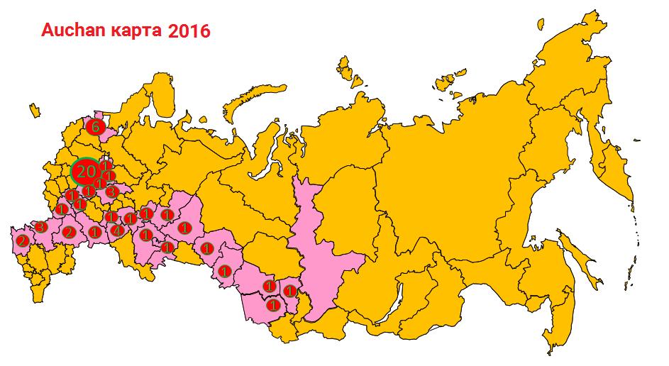 Auchan карта 2016